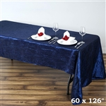 Navy Crinkle Taffeta Tablecloth 60x126""