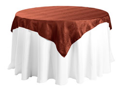 "54"" X 54"" Square Premium Snake Skin Damask Tablecloths"