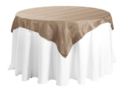 "60"" X 60"" Square Premium Snake Skin Damask Tablecloths"