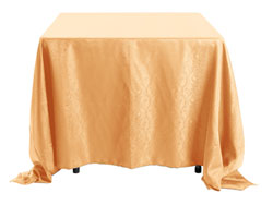 "90"" X 90"" Square Premium Snake Skin Damask Tablecloths"