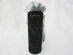 "LUSTROUS TULLE Collection 6""x 10yards Black"