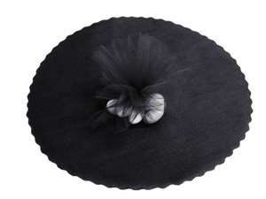"12"" Tulle Circle Wrap - Black/25pk"