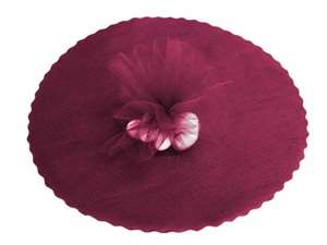 "12"" Tulle Circle Wrap - Burgundy/25pk"