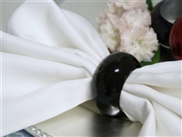 Black Napkin Rings (Acrylic) - Set of 4