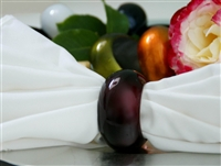 Burgundy Napkin Rings (Acrylic) - Set of 4