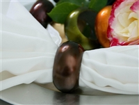 Chocolate Napkin Rings (Acrylic) - Set of 4