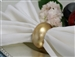 Gold Napkin Rings (Acrylic) - Set of 4