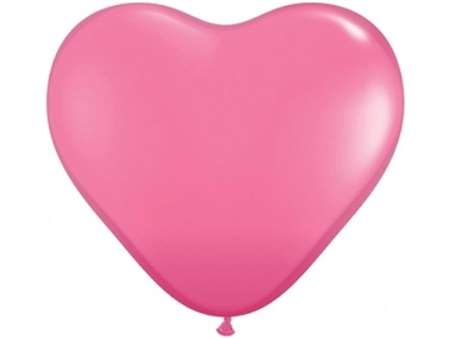 "25pk 12"" Pink Heart Balloons for celebrations and parties."