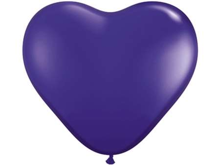 "25pk 12"" Purple Heart Balloons for celebrations and parties."