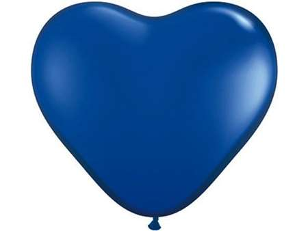 "25pk 12"" Royal Blue  Heart Balloons for celebrations and parties."