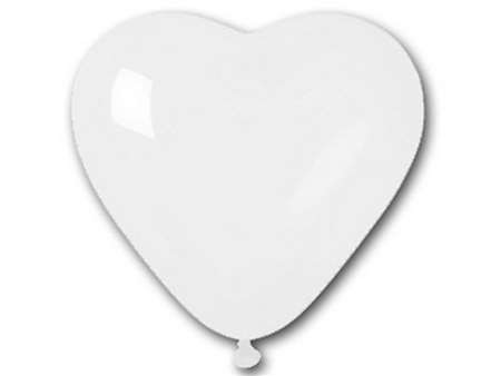 "25pk 12"" White Heart Balloons for celebrations and parties."