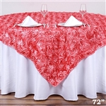 "72""x72"" Grandiose Rosette Table Overlays - Rose Quartz"