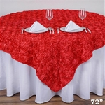 "72""x72"" Grandiose Rosette Table Overlays - Coral"