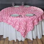 "72""x72"" Grandiose Rosette Table Overlays - Pink"