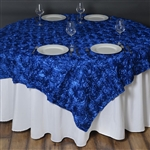 "72""x72"" Grandiose Rosette Table Overlays - Royal Blue"
