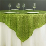 "72""x72"" Grand Duchess Sequin Table Overlays - Apple Green"