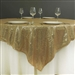 "72""x72"" Grand Duchess Sequin Table Overlays - Champagne"