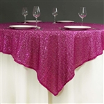 "72""x72"" Grand Duchess Sequin Table Overlays - Fushia"