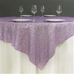 "72""x72"" Grand Duchess Sequin Table Overlays - Lavender"
