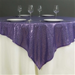 "72""x72"" Grand Duchess Sequin Table Overlays - Purple"