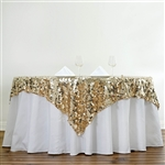 "72"" Premium Big Payette Sequin Overlay For Party Table - Champagne"