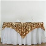 "72"" Premium Big Payette Sequin Overlay For Party Table - Gold"