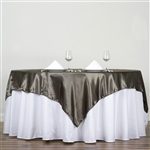 "72"" Laurel Green Wholesale Satin Square Overlay For Wedding Catering Party Table"