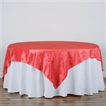 "90"" Overlay (Crinkle) - Coral"