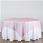 "90"" Organza Overlays - Rose Quartz"