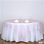 "90"" Organza Overlays - Blush"
