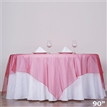 "90"" Organza Overlays - Wine"