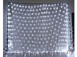 20ft x 10ft Gleaming LED Lights for Backdrops - White