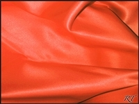 "54""x54"" Overlay Matte Satin / Lamour Table Cloths - Orange"