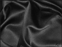 "8""x110"" Matte Satin / Lamour Chair Sash - Black"