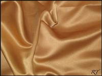 "84"" Overlay Matte Satin / Lamour Table Cloths - Antique Gold"