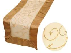 Embroidered Table Runner - Gold
