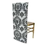 Flocking Chair Slipcover - Black/White