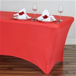 6 Ft Rectangular Spandex Table Cover - Coral