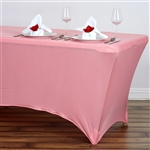 6FT Rectangular Spandex Table Cover - Rose Quartz