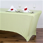 6 Ft Rectangular Spandex Table Cover - Tea Green