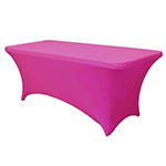 6 Ft Rectangular Spandex Table Cover - Fushia