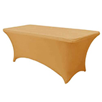 6 Ft Rectangular Spandex Table Cover - Gold