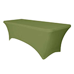 6 Ft Rectangular Spandex Table Cover - Willow