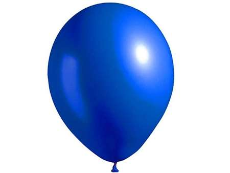 "12"" Metallic Latex Balloons- Happy Royal Blue-25/pk"
