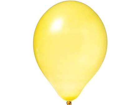 "12"" Metallic Yellow Balloons 25pk"