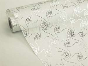 "FAIR WINDS & GENTLE SEAS Non-Woven Fabric Bolt Silver/White 19""x10Yards"