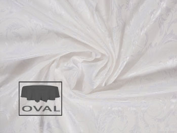 "108"" x 132"" Oval Premium Melrose Tablecloth"
