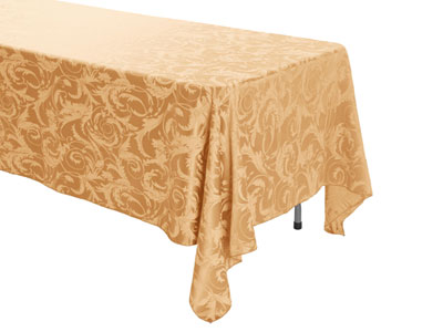 "72"" x 120"" Rectangular Premium Melrose Tablecloth"