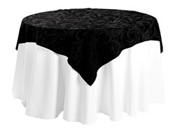 "45"" x 45"" Square Premium Melrose Tablecloth"