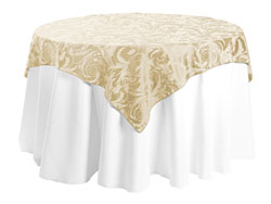 "72"" x 72"" Square Premium Melrose Tablecloth"